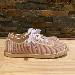 """TOMS • """"Carmel"""" Oxford Tan Corduroy Sneakers -Sz 9"""